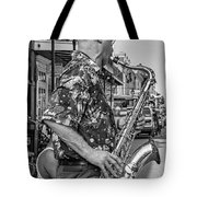 New Orleans Jazz Sax Bw Tote Bag