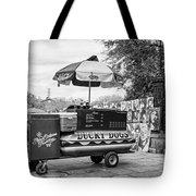 New Orleans - Lucky Dogs Bw Tote Bag by Steve Harrington