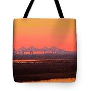 New Orleans Mississippi Bridge Tote Bag