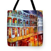 New Orleans Reflections In Red Tote Bag