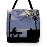 New Orleans Riverwalk Silhouette Tote Bag