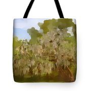 New Orleans Spanish Moss On Live Oaks Tote Bag by Christine Till