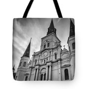 New Orleans St Louis Cathedral Bw Tote Bag
