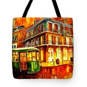New Orleans Streetcar Tote Bag