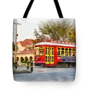 New Orleans Streetcar Paint Tote Bag