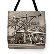 New Orleans Streetcar Sepia Tote Bag