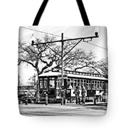 New Orleans Streetcar Silhouette Tote Bag
