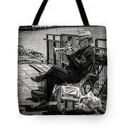 New Orleans Waterfront Jazz Tote Bag