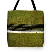 New Perspective Of The Picket Fence Tote Bag