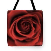 Close Up Heart Of A Red Rose Tote Bag