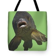 New Photographic Art Print For Sale   Open Mouthed Fish In Green Water Tote Bag