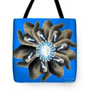 New Photographic Art Print For Sale Pop Art Swan Flower On Blue Tote Bag