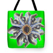 New Photographic Art Print For Sale Pop Art Swan Flower On Green Tote Bag