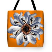 New Photographic Art Print For Sale Pop Art Swan Flower On Orange Tote Bag