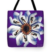 New Photographic Art Print For Sale Pop Art Swan Flower On Purple Tote Bag