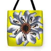 New Photographic Art Print For Sale Pop Art Swan Flower On Yellow Tote Bag