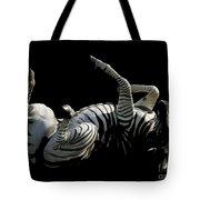 Frolicking Zebra On Black Tote Bag
