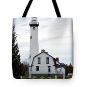 New Presque Isle Lighthouse Tote Bag