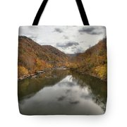 New River Fall Reflections Tote Bag