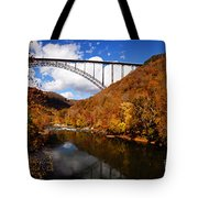 New River Gorge Bridge In Autumn Tote Bag