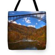New River Gorge Fiery Fall Colors Tote Bag