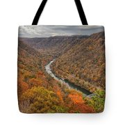 New River Gorge Overlook Fall Foliage Tote Bag
