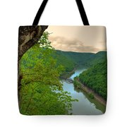 New River Railroad Bridge At Hawk's Nest  Tote Bag