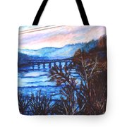 New River Trestle In Fall Tote Bag