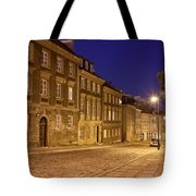 New Town Street And Houses At Night In Warsaw Tote Bag