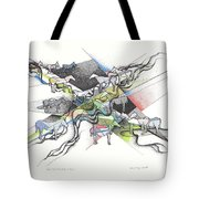 Small Herd At The Edge Of Town Tote Bag
