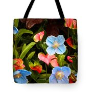 New World And Old World Exotic Flowers Tote Bag