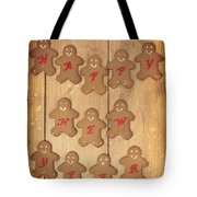 New Year Gingerbread Tote Bag