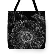 New Years Eve Flower Tote Bag