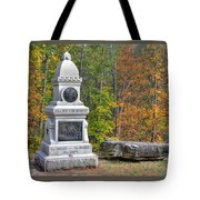 New York At Gettysburg - 149th Ny Infantry Autumn Mid-afternoon Culp's Hill Tote Bag by Michael Mazaika