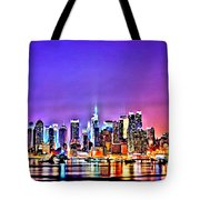 New York At Night Tote Bag