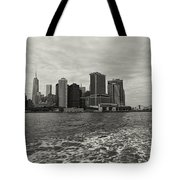 New York Battery Park View Tote Bag