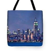 New York Blue Hour Panorama Tote Bag