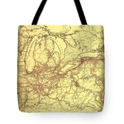 New York Central And Hudson River Railroad 1900 Tote Bag