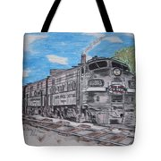 New York Central Train Tote Bag