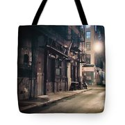 New York City Alley At Night Tote Bag