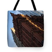 New York City - An Angled View Of The Potter Building At Sunrise Tote Bag