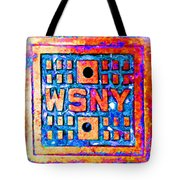 New York City Autumn Street Detail Pop Painting Tote Bag