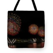 New York City Celebrates The Fourth Tote Bag by Susan Candelario