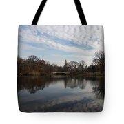 New York City Central Park Bow Bridge Quiet Reflections Tote Bag