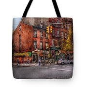 New York - City - Corner Of One Way And This Way Tote Bag