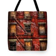 New York City Graffiti Building Tote Bag