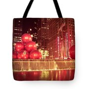 New York City Holiday Decorations Tote Bag