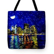 New York City Lower Manhattan Tote Bag