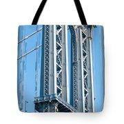 New York City Manhattan Bridge And Skyline Tote Bag