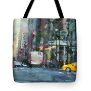 New York City Morning In The Street Tote Bag